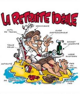 dessin humour depart retraite