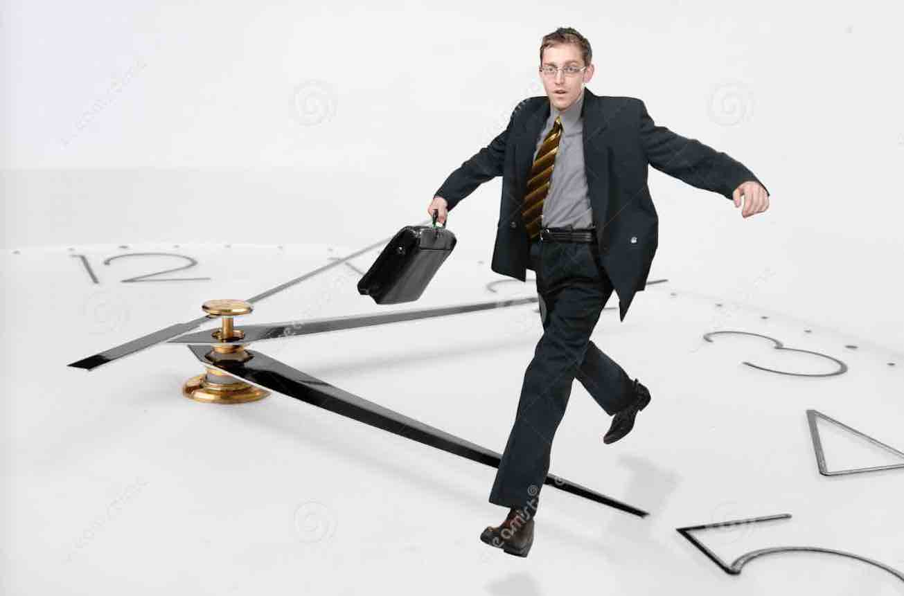 https://www.dreamstime.com/royalty-free-stock-photography-businessman-run-ti-image1733447